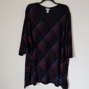 Catherines Multicolored Blouse  Sz.  5X
